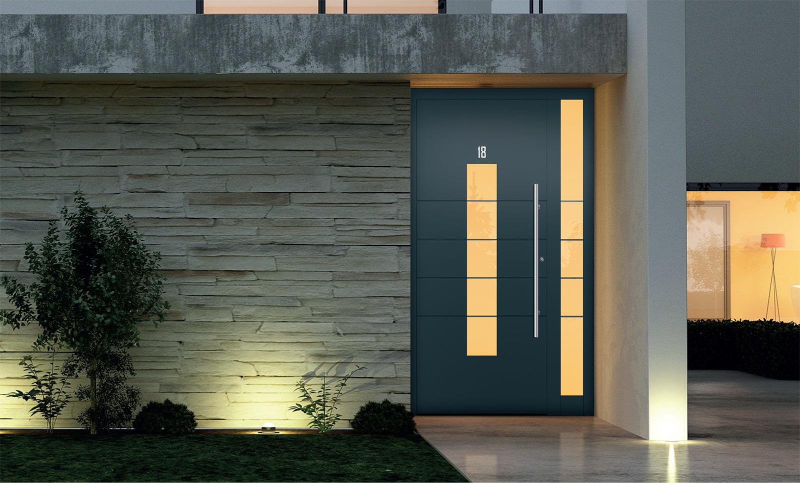 Durable Aluminium Entrance Doors | Double Glazing Essex Ltd  |Aluminium Front Doors