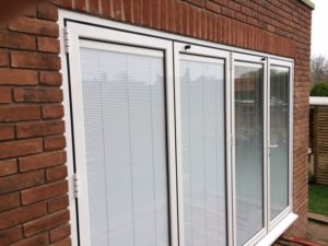 Bi-Folding door with Integral Blinds