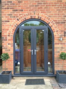 Porch with Kommerling Anthracite grey doors