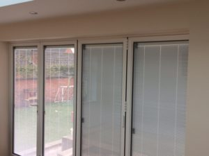Integrated blinds in Bi-Fold Doors in Kenilworth