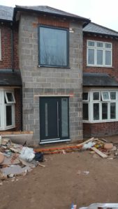 Front House Extension with Aluminium Doors, Warwick