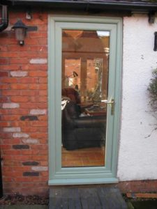 Chartwell Green aluminium door