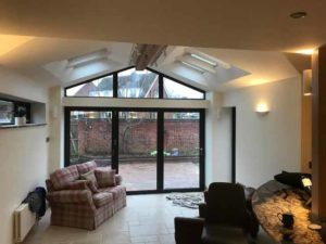 Aluminium Gable Window and bi-fold doors