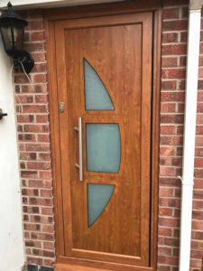 Wood Effect Aluminium Entrance Doors