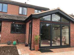 House Extension with Aluminium Bi-Fold Doors Kenilworth