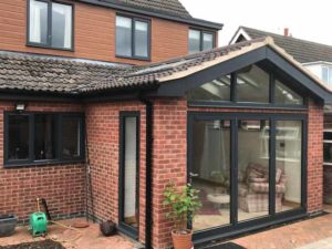 extension with aluminium windows
