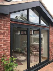 Origin aluminium windows and bifold door