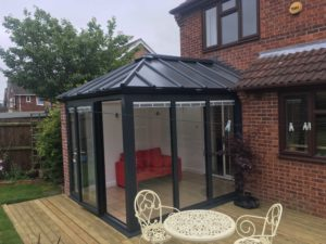 Solid conservatory roof extension, Kenilworth