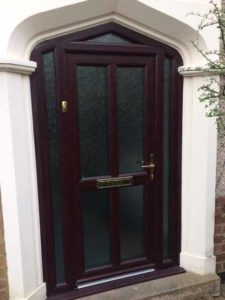 Mahogany entrance door prices Warwickshire