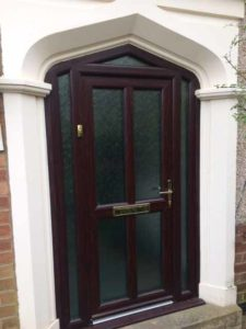 Brown uPVC Entrance Door Warwick