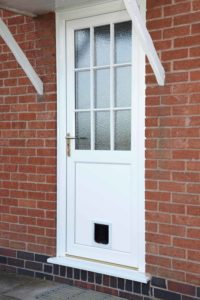 Front Door with Cat Flap Warwickshire