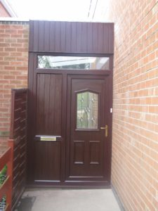 Brown uPVC porch Warwickshire