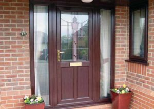 Rosewood Front Door With Glass Panels