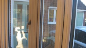 Oak Wood Grain uPVC Windows