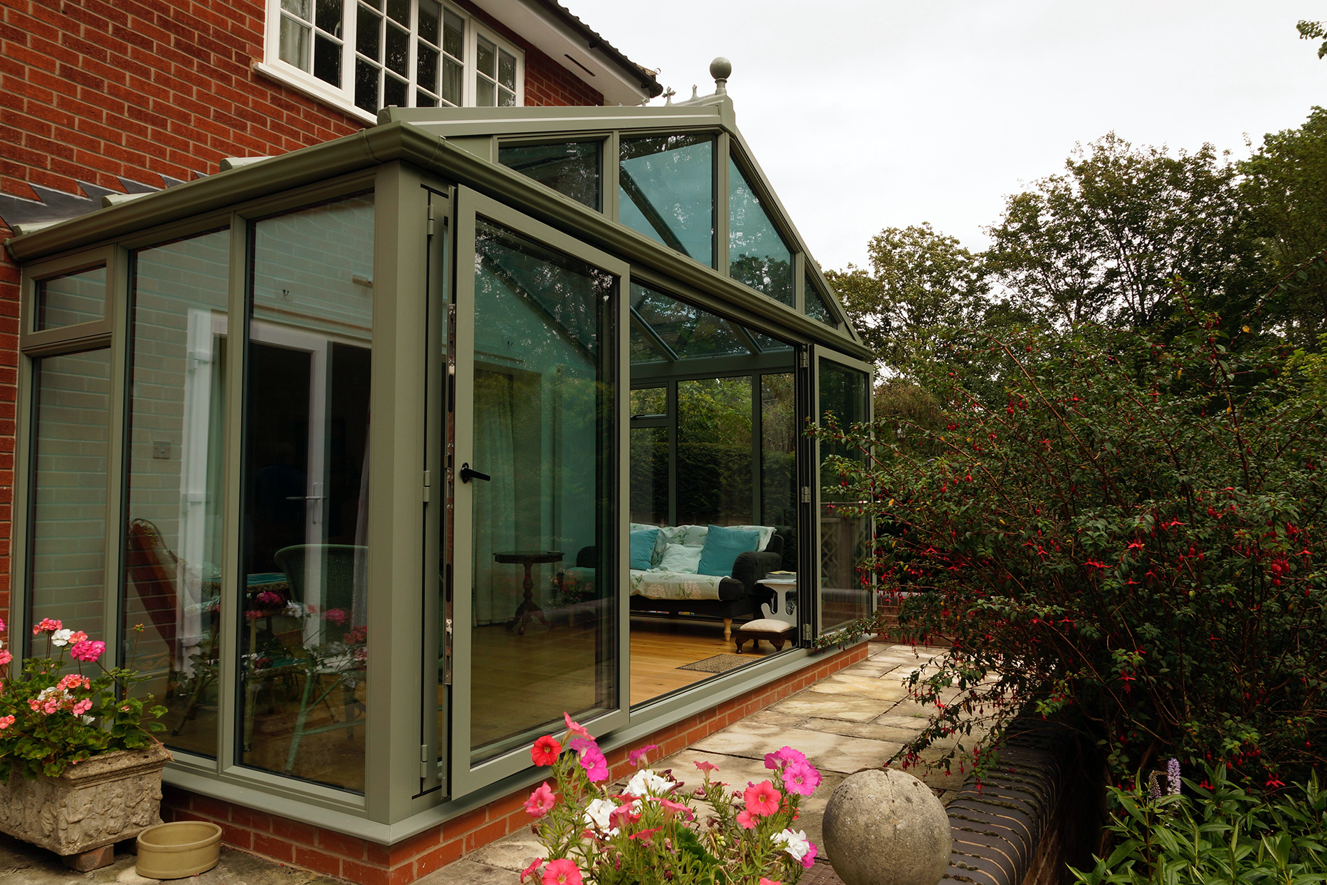 Classic uPVC conservatory with Gable Roof installed in Kenilworth, Warwickshire