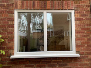 white slim upvc casement windows