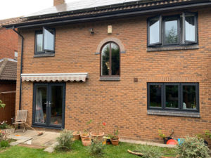 grey double glazed upvc windows