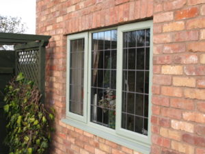green upvc casement windows